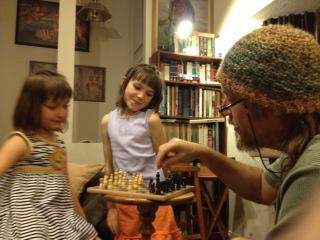 santi lia aria playing chess