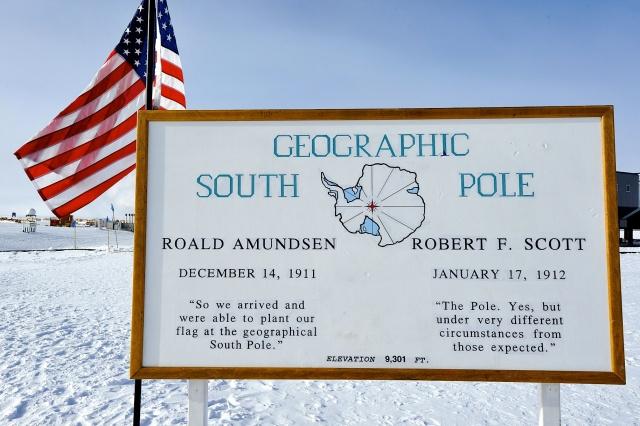south pole sign hood